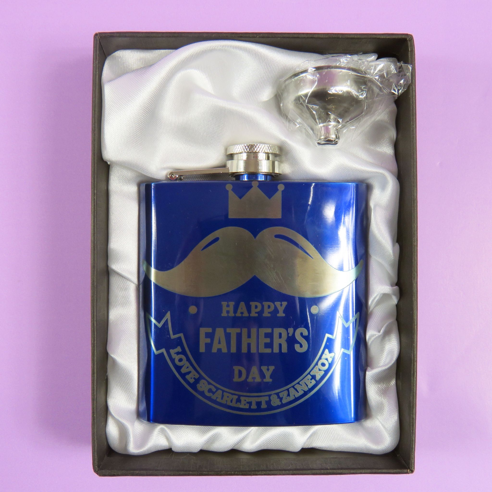 Fathers Day Personalised Engraved Hip Flask Dad Grandad ...